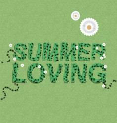 summer loving vector image