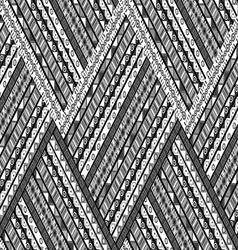 Zig zag background with ethnic motifs vector image vector image