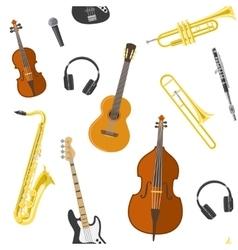 Flat Music Pattern vector image
