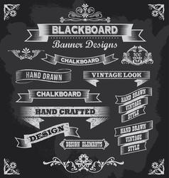 Retro Chalkboard calligraphy banners vector image vector image