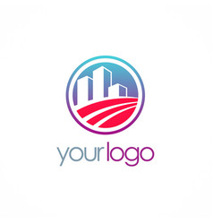 business building company logo vector image