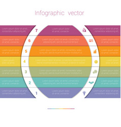 Colorful strips and white semicircles for text 7 vector