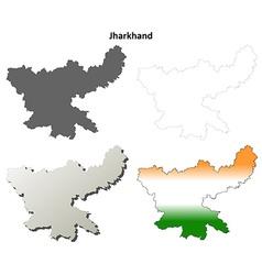 Jharkhand blank detailed outline map set vector image