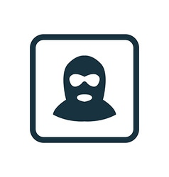 offender icon Rounded squares button vector image vector image