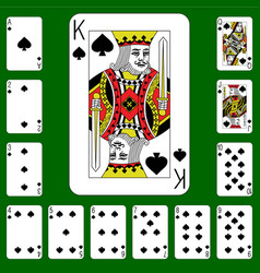 playing cards suit spades vector image
