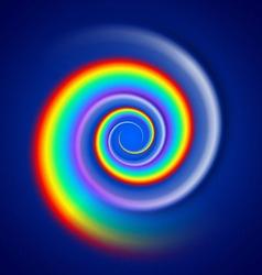 Rainbow spiral spectrum vector image vector image