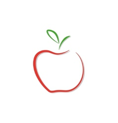 red apple logo isolated vector image vector image