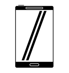 smartphone mobile technology screen pictogram vector image