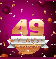 Forty nine years anniversary celebration design vector
