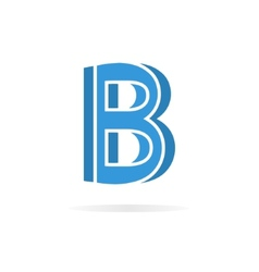 Logo B letter for company design template vector image vector image