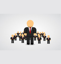 the real leader - business man in crowd vector image vector image
