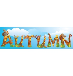 Word AUTUMN vector image vector image