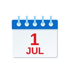 01 july calendar icon canada day vector