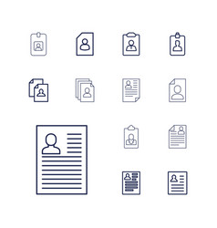 13 resume icons vector