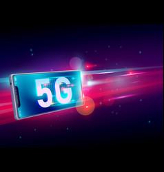 5g network wireless internet communication on vector image