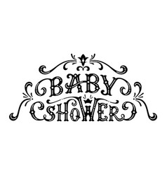 baby shower lettering vector image