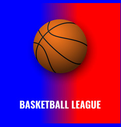 basketball banner with ball vector image