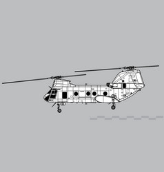 boeing vertol ch-46 sea knight vector image