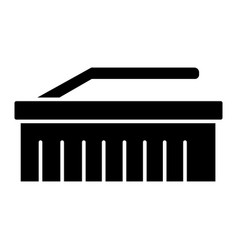 brush cleaning icon black vector image