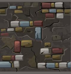 Cartoon seamless pattern texture old crack vector
