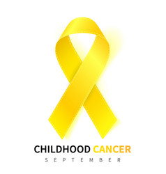 Childhood cancer awareness month realistic gold vector