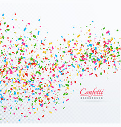 Colroful confetti and ribbons falling background vector