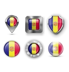 County Flag Bages vector image vector image
