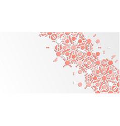 Diagonal corner design geometric arabesque vector