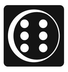 dice icon simple style vector image