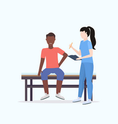 doctor holding clipboard female therapist vector image
