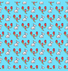 easter bunnies seamless pattern17 vector image