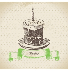 Easter cake vector image