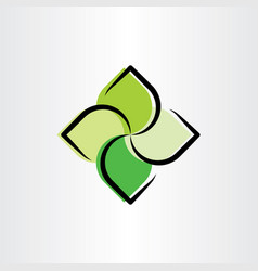 eco green leaves logo symbol vector image
