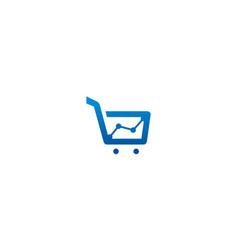 economy shopping chart logo vector image