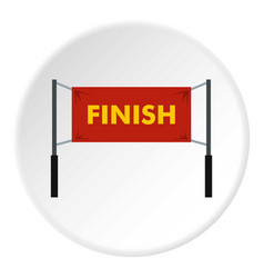 Finish line icon circle vector