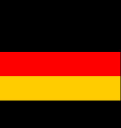 flag of germany flag with official colors vector image