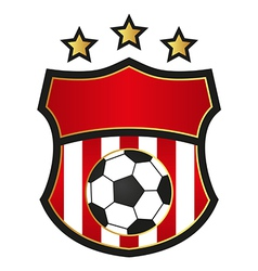 Football emblems vector image