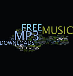 Free mp music download text background word cloud vector