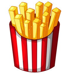 Frenchfries in paper container vector