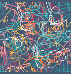 geometric abstract color pattern in graffiti vector image