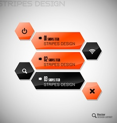 Hexagon Design vector image