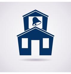 icon school vector image