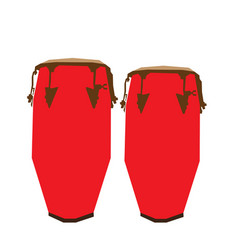 Isolated pair of conga drums vector