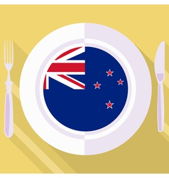 kitchen of New Zealand vector image