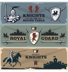 Knights Banners Set vector