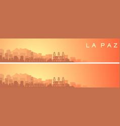La paz beautiful skyline scenery banner vector
