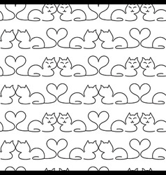 Lovely Cat Seamless Pattern vector image vector image