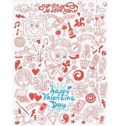 LoveValentine Day - doodles collection vector image