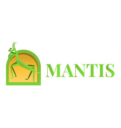 Mantis logo cartoon style vector