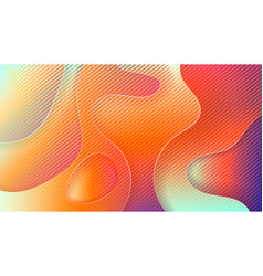minimal geometric abstract vivid color background vector image